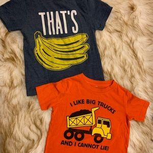 2 Funny toddler graphic tees sizes 3T